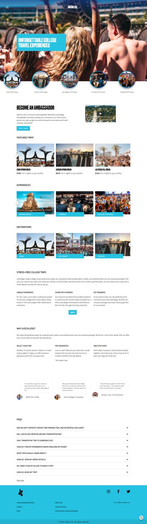 JusCollege Website